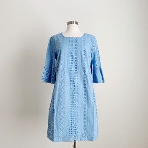 J Crew - NWT Ruffle Sleeve Blue Mini Dress Size 8